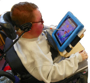 Individual using an ipad