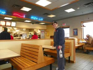 Individual working at Mighty Taco