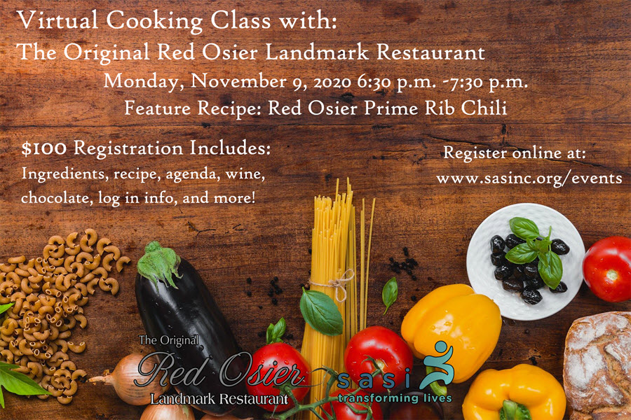 sasi virtual cooking class flyer