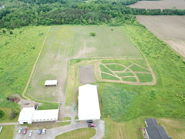 Aerial View of High Hurdles and our farm