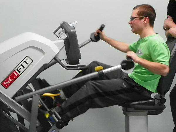 Image of individual working out
