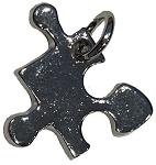 Autism puzzle piece charm