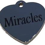 MIRACLES heart charm