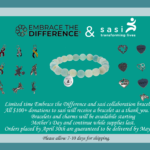 sasi Teams up with Embrace the Difference on Bracelet