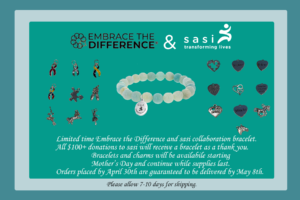 Embrace the Difference bracelet ad