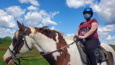 High Hurdles Rider and Horse who benefit from Program Partners
